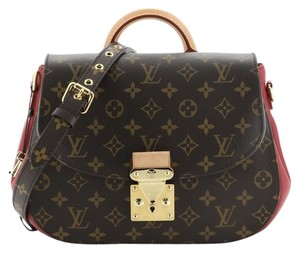 Louis Vuitton Canvas Satchel in Brown, Red