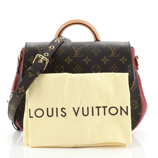 Louis Vuitton Canvas Satchel in Brown, Red Image 1