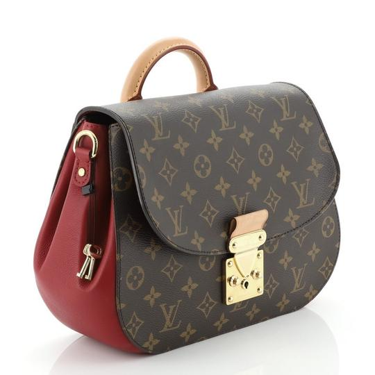 Louis Vuitton Canvas Satchel in Brown, Red Image 2