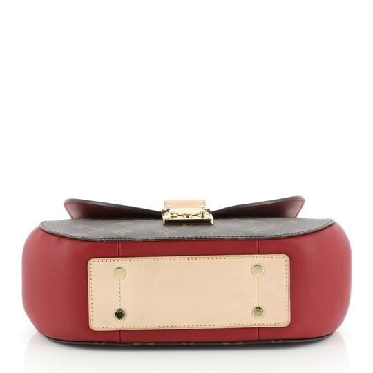 Louis Vuitton Canvas Satchel in Brown, Red Image 4