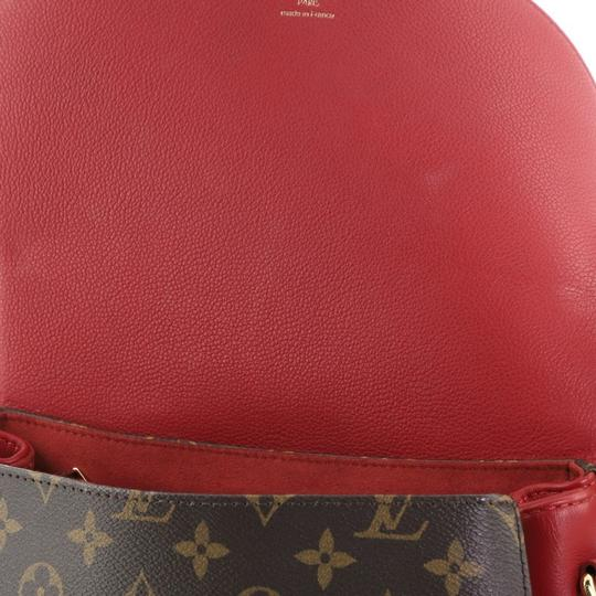Louis Vuitton Canvas Satchel in Brown, Red Image 5