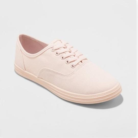 Mossimo Canvas Sneakers Pink Flats Image 1