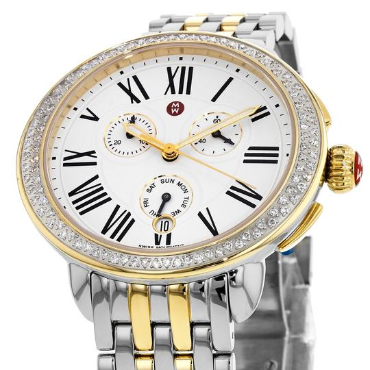 Michele Serein Gold Two Tone Stainless Chronograph Diamond MWW21A000008 Image 6