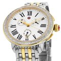 Michele Serein Gold Two Tone Stainless Chronograph Diamond MWW21A000008 Image 9