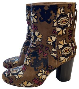 Isabel Marant Tan Embroidered Boots