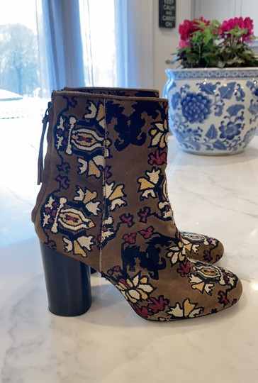 Isabel Marant Tan Embroidered Boots Image 1