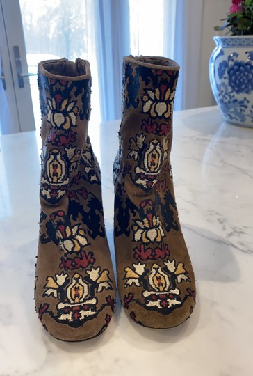 Isabel Marant Tan Embroidered Boots Image 3