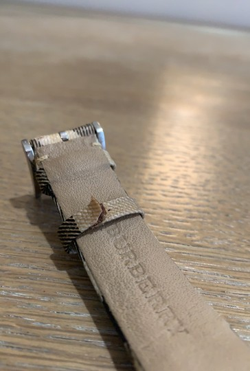 Burberry Silver Haymarket Check Leather Strap Watch BU1390 Image 10