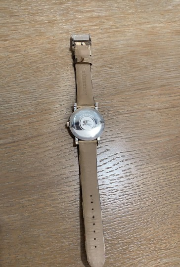 Burberry Silver Haymarket Check Leather Strap Watch BU1390 Image 2