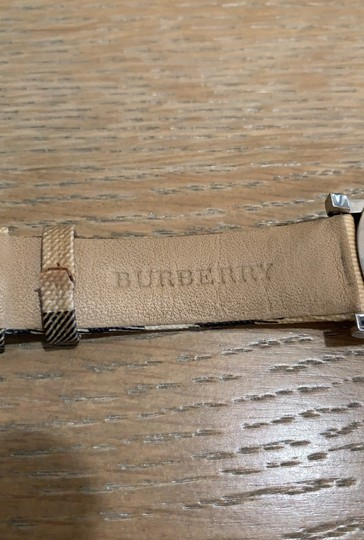 Burberry Silver Haymarket Check Leather Strap Watch BU1390 Image 4