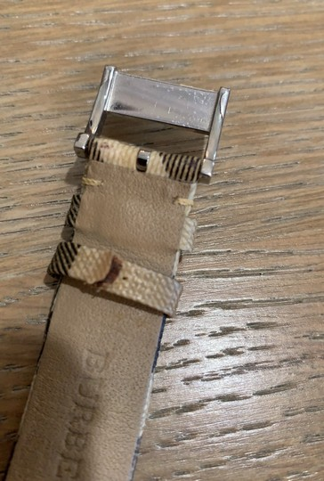 Burberry Silver Haymarket Check Leather Strap Watch BU1390 Image 5