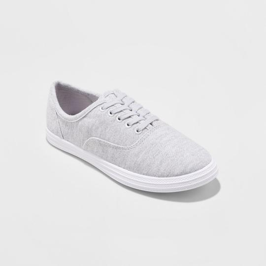 Mossimo Canvas Sneakers Gray Flats Image 1