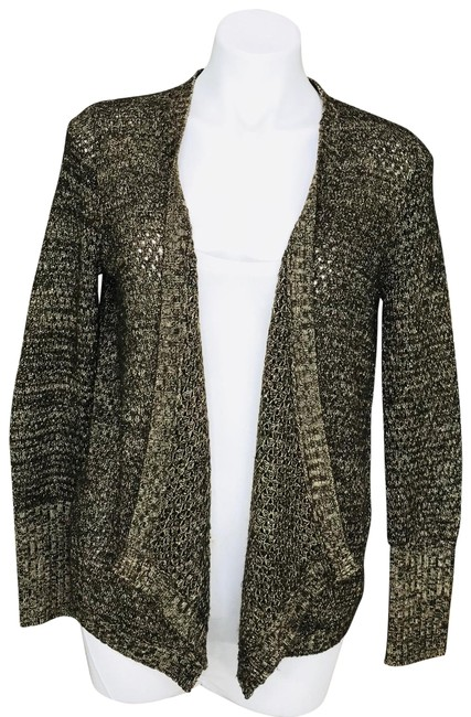 Preload https://img-static.tradesy.com/item/26872790/jack-by-bb-dakota-brown-metallic-gold-knit-drape-front-cardigan-size-6-s-0-1-650-650.jpg