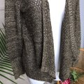 Jack by BB Dakota Brown Metallic Gold Knit Drape Front Cardigan Size 6 (S) Jack by BB Dakota Brown Metallic Gold Knit Drape Front Cardigan Size 6 (S) Image 2