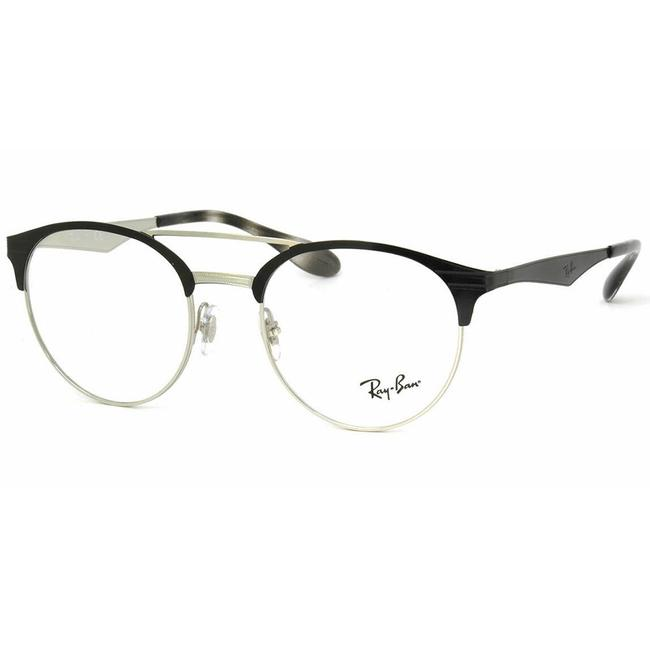 Ray-Ban Black / Silver Frame & Demo Customisable Lens Rb 3545-v 2861 Unisex Round Ray-Ban Black / Silver Frame & Demo Customisable Lens Rb 3545-v 2861 Unisex Round Image 1