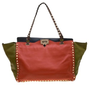 Valentino Leather Studded Tote in Multicolor