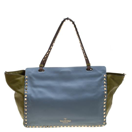 Valentino Leather Studded Tote in Multicolor Image 1
