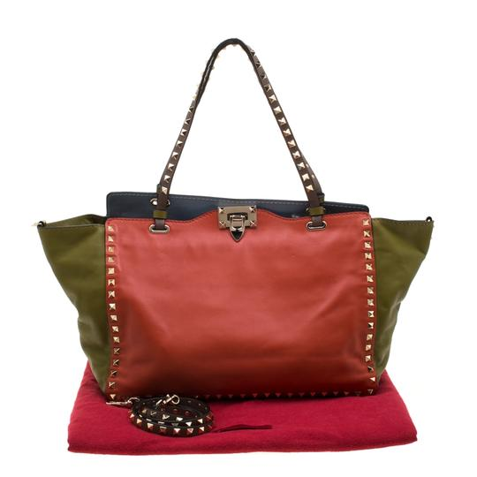 Valentino Leather Studded Tote in Multicolor Image 11