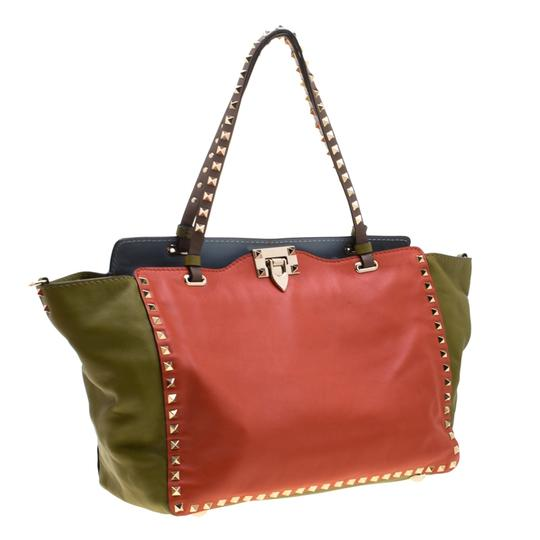 Valentino Leather Studded Tote in Multicolor Image 3