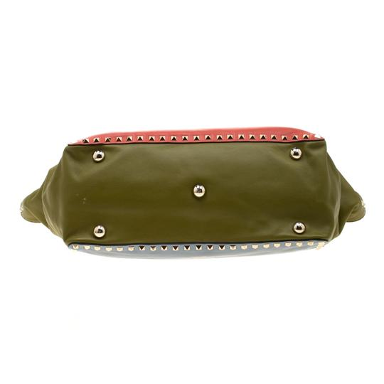 Valentino Leather Studded Tote in Multicolor Image 4
