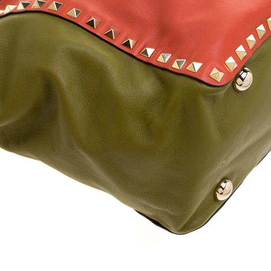 Valentino Leather Studded Tote in Multicolor Image 5