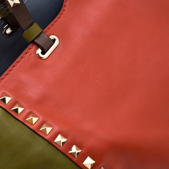 Valentino Leather Studded Tote in Multicolor Image 8