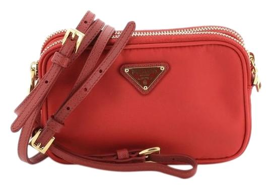 Prada Nylon Red Clutch Image 0