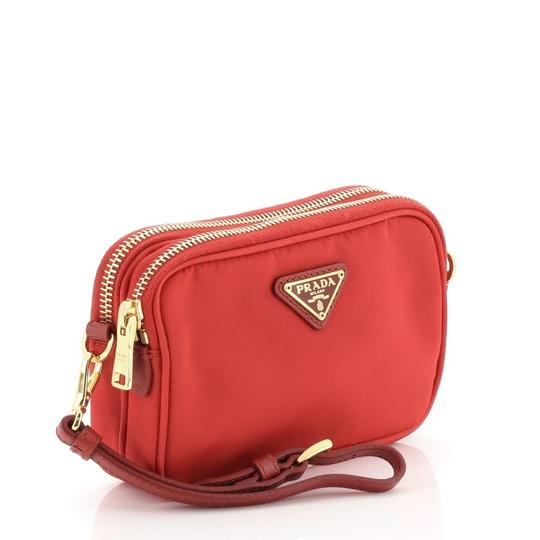Prada Nylon Red Clutch Image 1