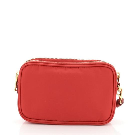 Prada Nylon Red Clutch Image 2