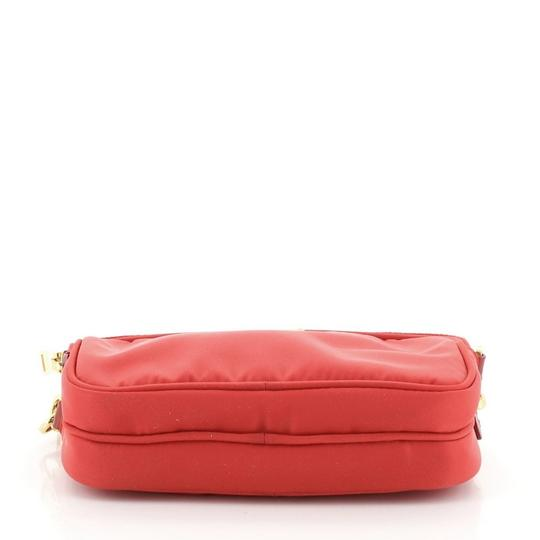 Prada Nylon Red Clutch Image 3