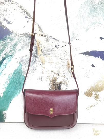 Cartier Leather Vintage Cross Body Bag Image 1