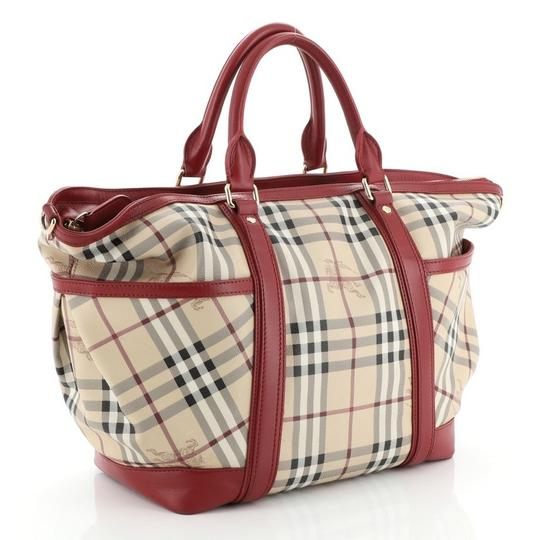 Burberry Canvas Tote in Red Image 1