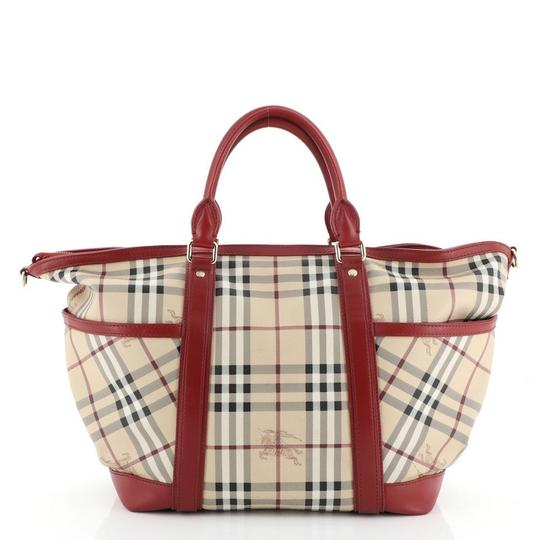 Burberry Canvas Tote in Red Image 2
