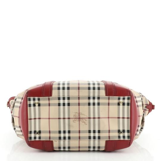 Burberry Canvas Tote in Red Image 3