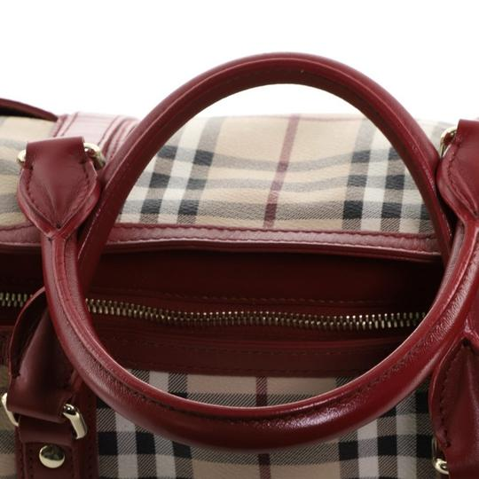 Burberry Canvas Tote in Red Image 7