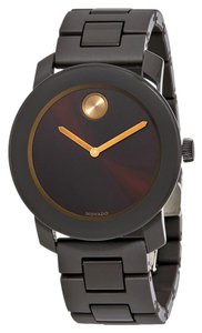 Movado MOVADO Men's Bold Brown Sunray Dial Stainless Steel Watch 3600462