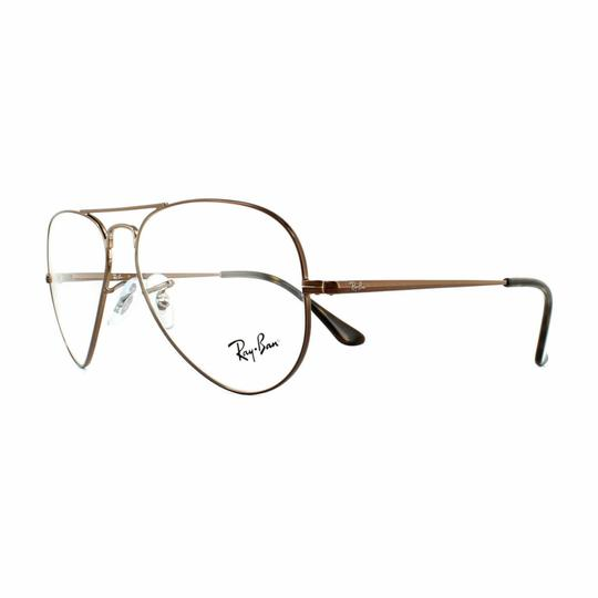 Preload https://img-static.tradesy.com/item/26872906/ray-ban-light-brown-frame-and-demo-customisable-lens-rx6489-2531-55-unisex-pilot-0-0-540-540.jpg