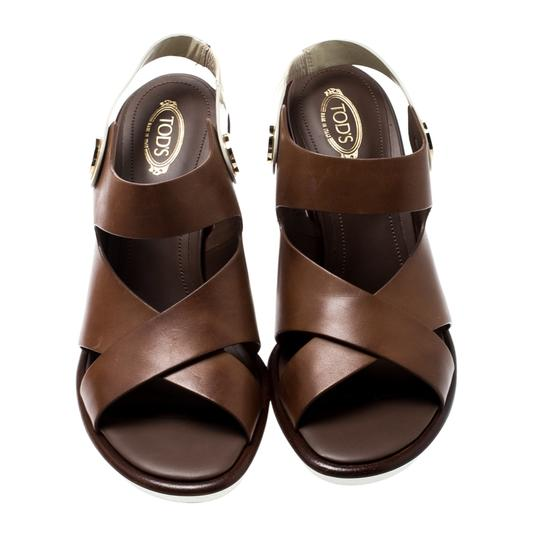 Tod's Leather Brown Sandals Image 1