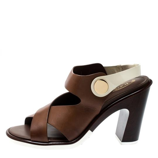 Tod's Leather Brown Sandals Image 4