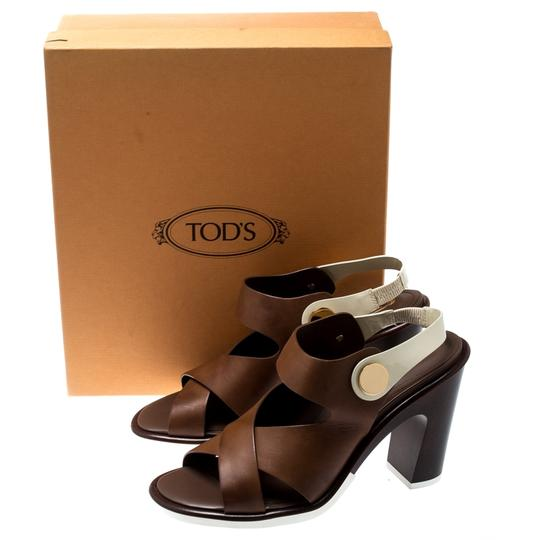 Tod's Leather Brown Sandals Image 7