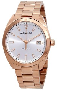 Movado MOVADO Men's Heritage Rose Gold-Ion Plated Watch 3650058