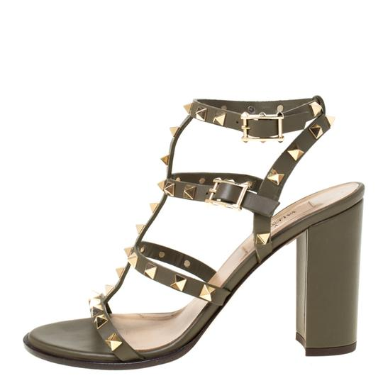 Valentino Leather Green Sandals Image 1