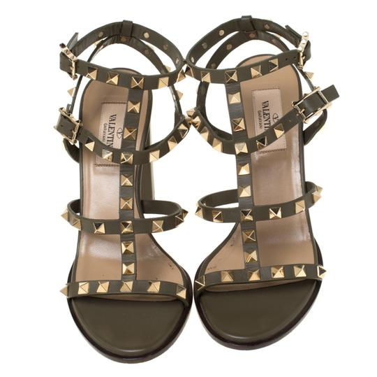 Valentino Leather Green Sandals Image 2