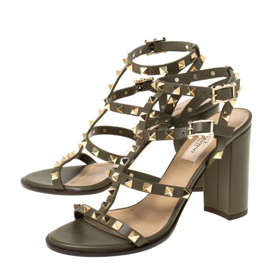 Valentino Leather Green Sandals Image 3