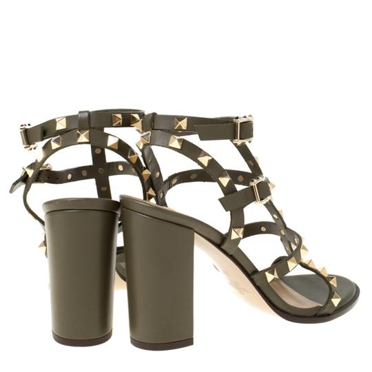 Valentino Leather Green Sandals Image 4