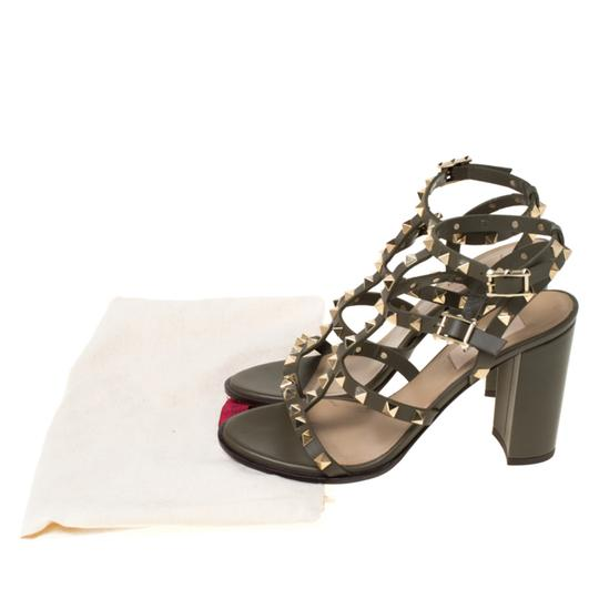 Valentino Leather Green Sandals Image 7