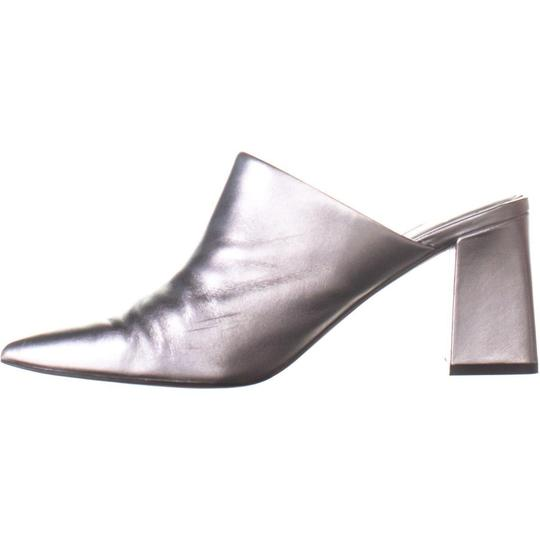 Marc Fisher Silver Mules Image 2