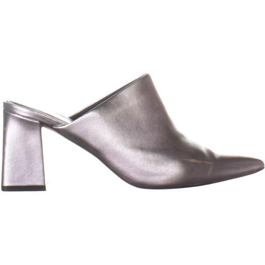 Marc Fisher Silver Mules Image 3