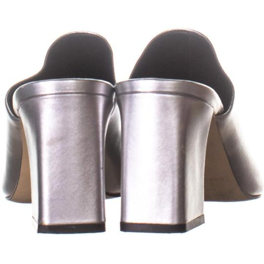 Marc Fisher Silver Mules Image 4