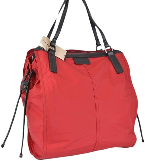 Burberry Small Buckleigh Red Nylon Tote Burberry Small Buckleigh Red Nylon Tote Image 1